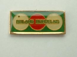 Pin's  BILLARD BORDELAIS - Billiards