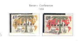 Ecuador PA 1964 Banana Conf.  Scott.C427+428 See Scans On Scott.Page+ - Ecuador