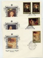 SOVIET UNION 1984 French Paintings Set On 5 FDCs.  Michel 5452-56 - 1923-1991 USSR