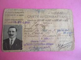 Militaria/Doc Administratif/Carte Du COMBATTANT/Office National/Jules JAMIN/Les Ponts De Cé/M & L/Angers/1928     AEC146 - Other Collections