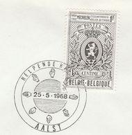 1968 Aalst BELGIUM Helpende Handedn EVENT COVER Stamps Heraldic Lion - Belgium