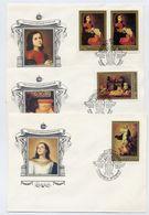 SOVIET UNION 1985 Spanish Paintings Set And Block On 6 FDCs.  Michel 5476-80 + Block 179 - 1923-1991 USSR