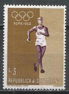San Marino 1960. Scott #458 (MNH) Olympic Games, Rome, Shot Put * - Saint-Marin