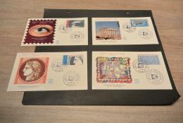 M3580- Set FDC Historique N°923-926-  France  - 1975- L'art Et La Philaatelie - Arphila  -Paris - 1960-1969
