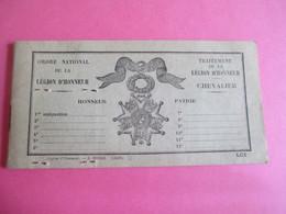 Militaria/Carnet à Souche De Traitement De La Légion D'Honneur/Jules JAMIN/CHAUDRON En Mauges/M & L/1961     AEC147 - Other Collections
