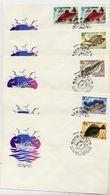 SOVIET UNION 1983 Edible Fish Set On 5 FDCs.  Michel 5294-98 - 1923-1991 USSR