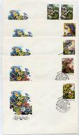 SOVIET UNION 1983 Spring Flowers Set On 5 FDCs.  Michel 5278-82 - 1923-1991 USSR