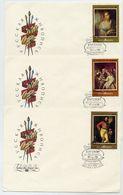 SOVIET UNION 1982 Russian Paintings Set On 3 FDCs.  Michel 5161-63 - 1923-1991 USSR