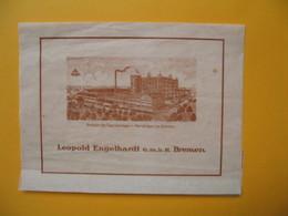 Vieux Document Représentant La Fabrique De Léopold Engelhardt  Bremen - Ansicht Der Fabrikanlange In Hemelingen Bei Brem - Allemagne
