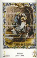 Gandia. Semana Santa. Estaciones Del Calvario De Jesús. Jesús Es Puesto En El Sepulcro. - Santos