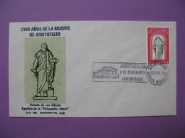 FDC  Mexico   1978 -  2300  Anos De La Muerte De Aristoles   N° 342 - Mexico
