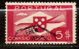 PORTUGAL  P Aérienne  5€ Lilas Brun 1937-41  N° 6 - Poste Aérienne