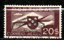 PORTUGAL  P Aérienne  20€ Brun Focé 1937-41  N° 9 - Poste Aérienne