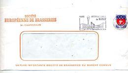 Devant De Lettre Flamme Nancy Foire  Entete Societe Europeenne De Brasserie Champigneulles - Mechanical Postmarks (Advertisement)