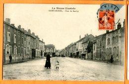 P261, Saint-Mihiel, Rue Du Sauley, Animée, Circulée 1906 - Saint Mihiel