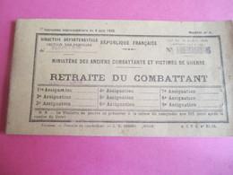 Militaria/Carnet à Souche D'échéances Trimestrielles De Retraite Du Combattant/Jules JAMIN//Nantes/1958    AEC148 - Other Collections