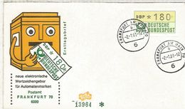 ALEMANIA FDC ATM FRANKFURT - [7] República Federal