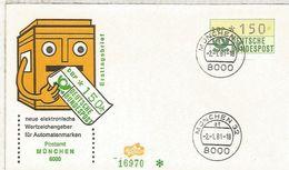 ALEMANIA FDC ATM MÜNCHEN - [7] República Federal