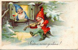 GNOMI-GNOMES-LUTINS-NAINS-ZWERGE - ANNO NUOVO - NEW YEAR - NEUEN JAHRE - N 217 - Nouvel An