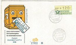 ALEMANIA FDC ATM DARMSTADT - [7] República Federal