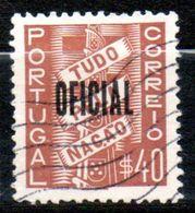 PORTUGAL  Service 40c Brun 1938  N°1 - Port Dû (Taxe)