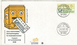 ALEMANIA FDC ATM STARNBERG - [7] República Federal