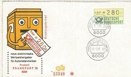 ALEMANIA FDC ATM FRANKFURT 75 FLUGHAFEN - [7] República Federal