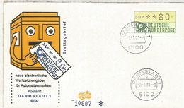 ALEMANIA FDC ATM DARMSTADT 1 - [7] República Federal