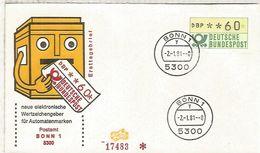 ALEMANIA FDC ATM BONN 1 - [7] República Federal