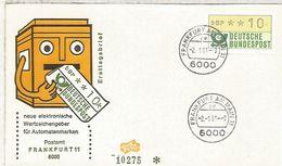 ALEMANIA FDC ATM FRANKFURT 11 - [7] República Federal
