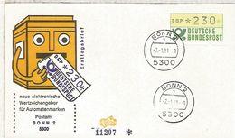 ALEMANIA FDC ATM BONN 2 - [7] República Federal