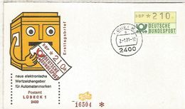 ALEMANIA FDC ATM LÜBECK 1 - [7] República Federal