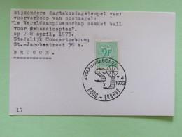 Belgium 1973 Special Cancel Postcard Basket Ball ARBEFIL - Belgium
