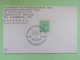 Belgium 1973 Special Cancel Postcard Herentals - Philatelic Expo - Belgium