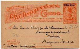 Congo - Entier Postal - Postal Stationery Stibbe N° 24CL1 Surcharge De 1909 Type L1 - J1 - Entiers Postaux