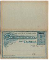 Congo - Entier Postal - Postal Stationery Stibbe N° 23T2T1a - Surcharge De 1909 Tpye T2 & T1a - Neuf -  J1 - Entiers Postaux