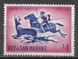 San Marino 1961. Scott #477 (M) Hunting Roebuck * - Saint-Marin