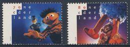 Nederland Netherlands Pays Bas 1996 Mi 1588 /9 ** Sesame Street - Children's Television Programme / Sesamstraat - Kindertijd & Jeugd