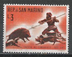 San Marino 1961. Scott #479 (M) Wild Boar Hunt * - Saint-Marin