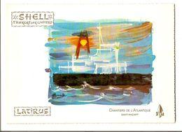 Em2.s- Baptême Pétrolier LATIRUS Chantiers De L'Atlantique St Nazaire Shell Tankers 1974 - Maritime & Navigational
