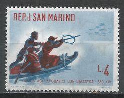 San Marino 1961. Scott #480 (M) Duck Shooting With Crossbow * - Saint-Marin