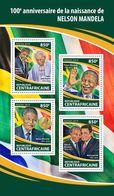 CENTRAL AFRICA 2018 - N. Mandela, Pope John-Paul II. Official Issue - Papas