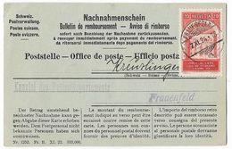 Switzerland 1924 Franked Postal Document Return Receipt - Lettres & Documents