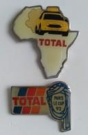 Pin's - Carburant - TOTAL - Lot De 2 Pin's - Paris Le Cap 1992 - - Fuels