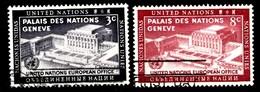Nations Unies New-York 1954  Mi.Nr: 31-32 Tag Der Vereinten Nationen.  Oblitèré / Used / Gebruikt - New-York - Siège De L'ONU