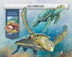 TOGO 2018 - Turtles S/S. Official Issue. - Schildpadden