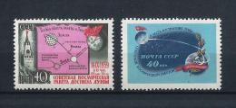 URSS506) 1959 - Lancio Del LUNIK II - Serie Cpl 2 Val. MNH - Nuovi