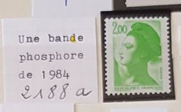 France Neufs ** - 2188 A - 1 Bande Phosphore - Sonstige