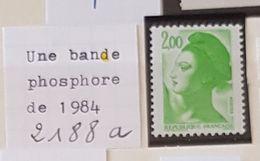 France Neufs ** - 2188 A - 1 Bande Phosphore - Abarten Und Kuriositäten