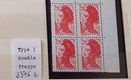 France Neufs ** - 2376 E - Double Frappe - Abarten Und Kuriositäten